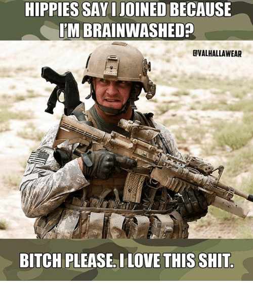 hippies: HIPPIES SAY I JOINED BECAUSE  M BRAINWASHED?  CVALHALLAWEAR  BITCH PLEASE. I LOVE THIS SHIT