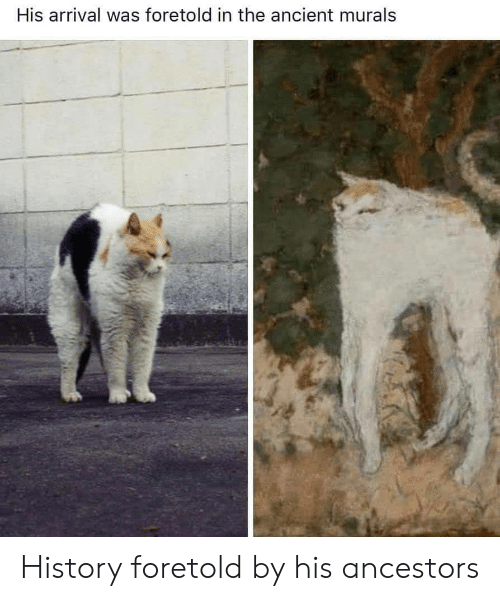ancestors: His arrival was foretold in the ancient murals History foretold by his ancestors