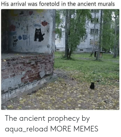 Reload: His arrival was foretold in the ancient murals The ancient prophecy by aqua_reload MORE MEMES