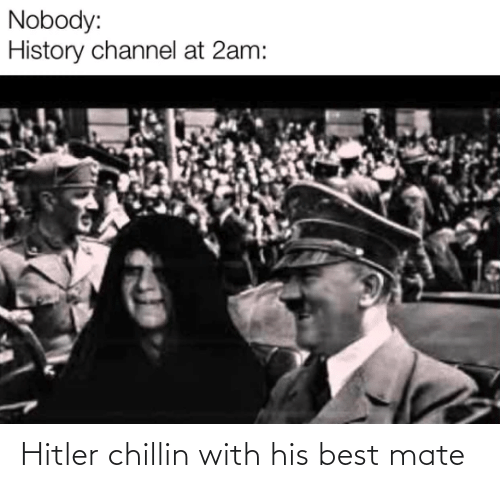 mate: Hitler chillin with his best mate