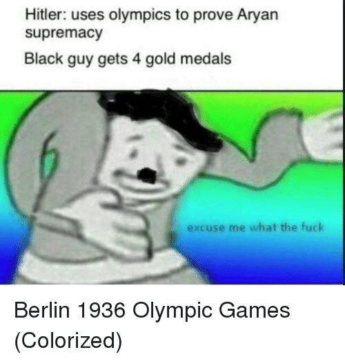 olympic: Hitler: uses olympics to prove Aryan  supremacy  Black guy gets 4 gold medals  excuse me what the fuck Berlin 1936 Olympic Games (Colorized)
