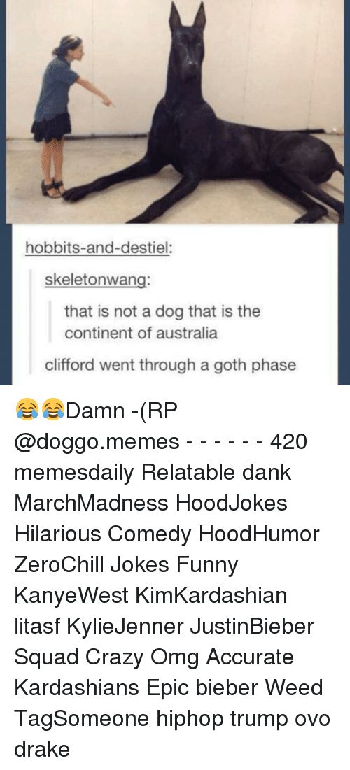 clifford: hobbits-and-destiel:  skeletonwang:  that is not a dog that is the  continent of australia  clifford went through a goth phase 😂😂Damn -(RP @doggo.memes - - - - - - 420 memesdaily Relatable dank MarchMadness HoodJokes Hilarious Comedy HoodHumor ZeroChill Jokes Funny KanyeWest KimKardashian litasf KylieJenner JustinBieber Squad Crazy Omg Accurate Kardashians Epic bieber Weed TagSomeone hiphop trump ovo drake