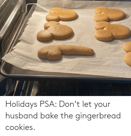 psa: Holidays PSA: Don't let your husband bake the gingerbread cookies.