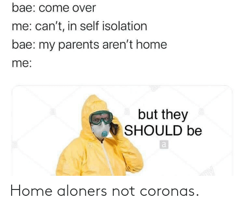 Home: Home aloners not coronas.
