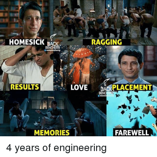 Homesick: HOMESICK RAGGING  BACK.  RESULTS  LOVE  BACKPLACEMENT  MEMORIES  FAREWELL 4 years of engineering