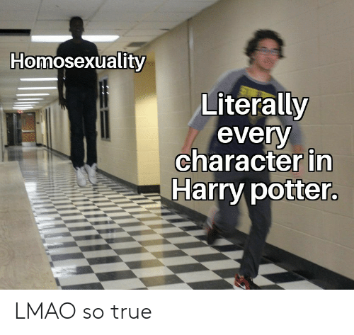 Homosexuality: Homosexuality  Literally  every  character in  Harry potter LMAO so true
