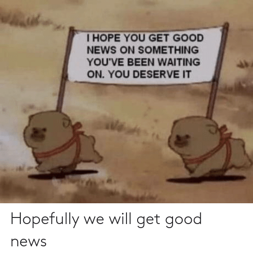 hopefully: Hopefully we will get good news