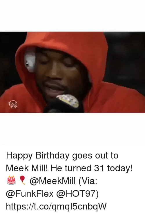 Meek Mill: HOT Happy Birthday goes out to Meek Mill! He turned 31 today! 🎂🎈 @MeekMill (Via: @FunkFlex @HOT97) https://t.co/qmqI5cnbqW