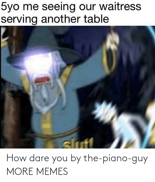 Piano: How dare you by the-piano-guy MORE MEMES