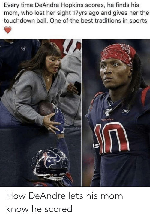 let's: How DeAndre lets his mom know he scored
