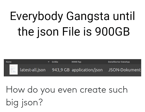 How Do You: How do you even create such big json?