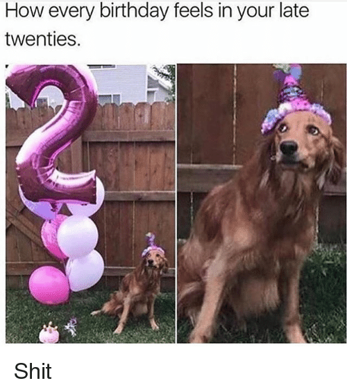 Shitted: How every birthday feels in your late  twenties. Shit