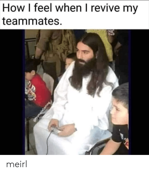 MeIRL, How, and Feel: How I feel when I revive my  teammates  @PromadaGaming meirl