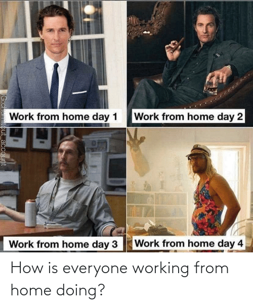 working from home: How is everyone working from home doing?