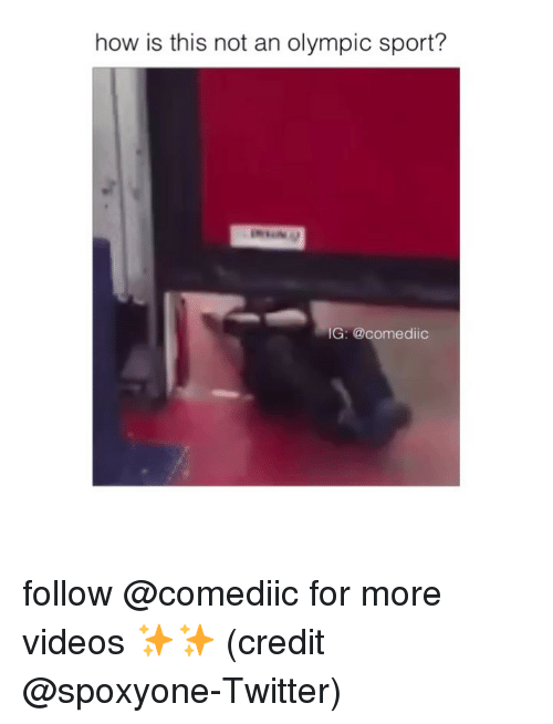 olympic: how is this not an olympic sport?  IG: @comediic follow @comediic for more videos ✨✨ (credit @spoxyone-Twitter)