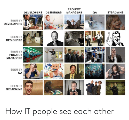 see: How IT people see each other