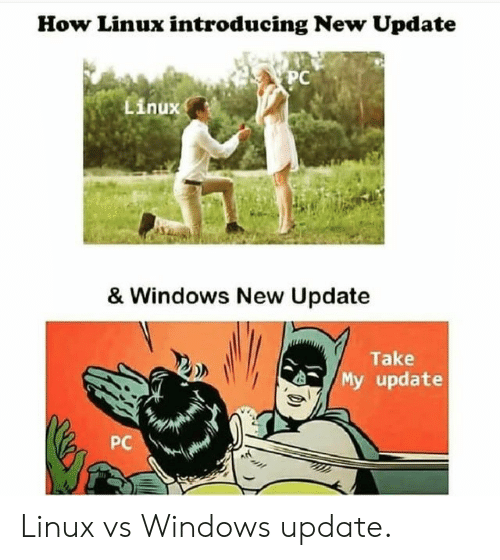 Introducing: How Linux introducing New Update  PC  Linux  & Windows New Update  Take  My update  PC Linux vs Windows update.