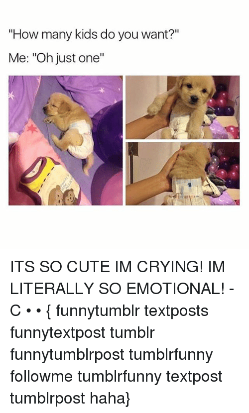 """how-many-kids: """"How many kids do you want?""""  Me: """"Oh just one""""  .2  ·リ ITS SO CUTE IM CRYING! IM LITERALLY SO EMOTIONAL! -C • • { funnytumblr textposts funnytextpost tumblr funnytumblrpost tumblrfunny followme tumblrfunny textpost tumblrpost haha}"""