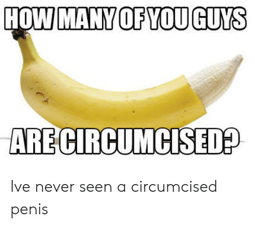 Penis, Never, and How: HOW MANY OF YOU GUYS  ARE CIRCUMCISED? Ive never seen a circumcised penis