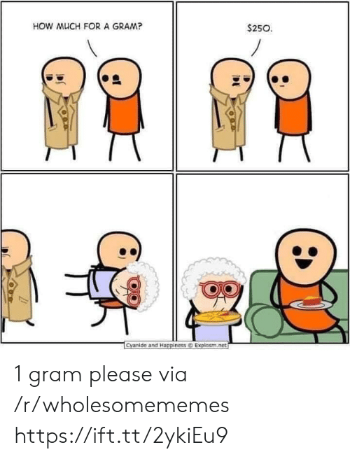 Explosm Net: HOW MUCH FORA GRAM?  $250  Cyanide and Happiness@ Explosm.net 1 gram please via /r/wholesomememes https://ift.tt/2ykiEu9