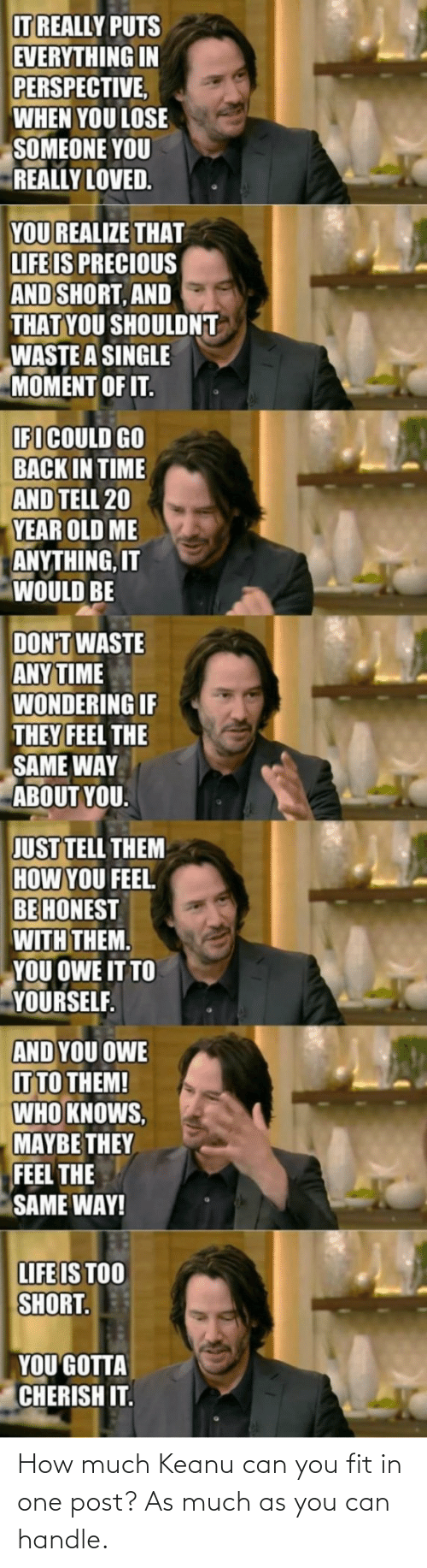 fit: How much Keanu can you fit in one post? As much as you can handle.