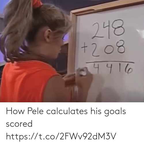 goals: How Pele calculates his goals scored https://t.co/2FWv92dM3V