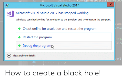 hole: How to create a black hole!