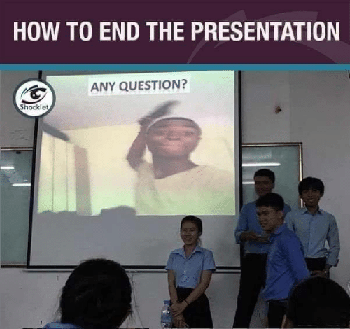 Any Question: HOW TO END THE PRESENTATION  ANY QUESTION?  Shocklet