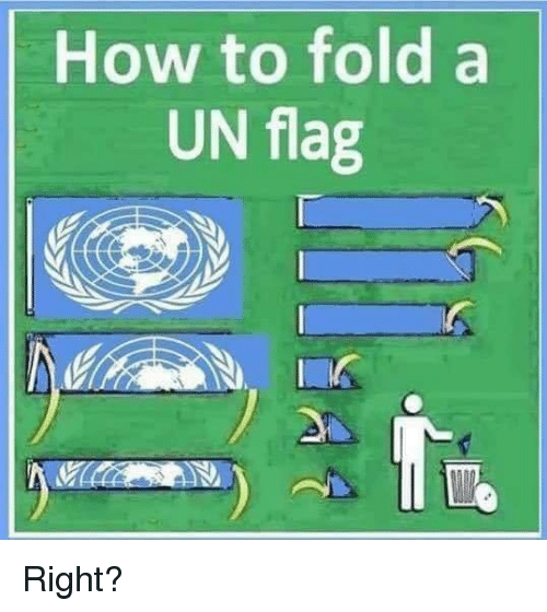 Memes, How To, and 🤖: How to fold a  UN flag Right?