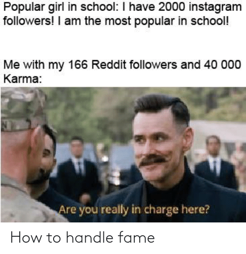 fame: How to handle fame