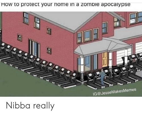 zombie apocalypse: How to protect your home in a zombie apocalypse  G@JesseMakesMemes Nibba really