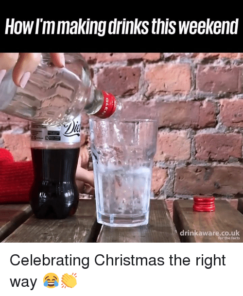 Christmas, Dank, and Facts: Howrmmaking drinks this weekend  drinkaware.co.uk  for the facts Celebrating Christmas the right way 😂👏