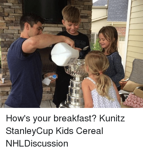 Cereally: How's your breakfast? Kunitz StanleyCup Kids Cereal NHLDiscussion