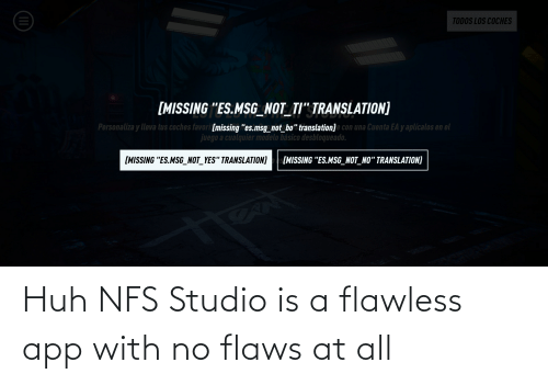 flaws: Huh NFS Studio is a flawless app with no flaws at all