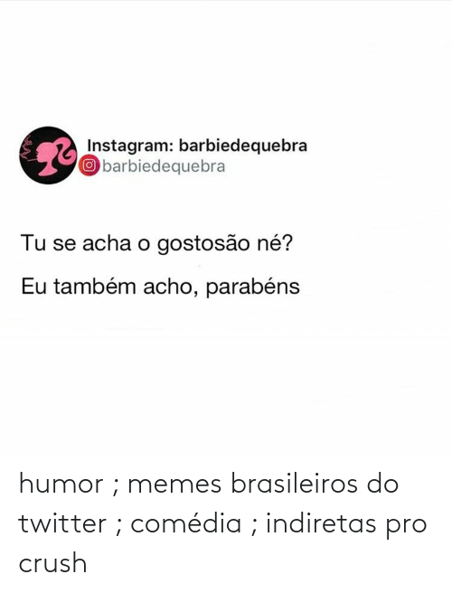 Crush, Memes, and Twitter: humor ; memes brasileiros do twitter ; comédia ; indiretas pro crush