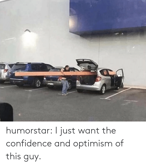 Optimism: humorstar:  I just want the confidence and optimism of this guy.