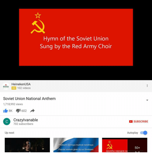 Hymn of the Soviet Union Sung by the Red Army Choir