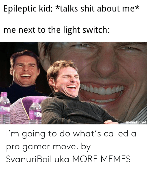 Pro: I'm going to do what's called a pro gamer move. by SvanuriBoiLuka MORE MEMES