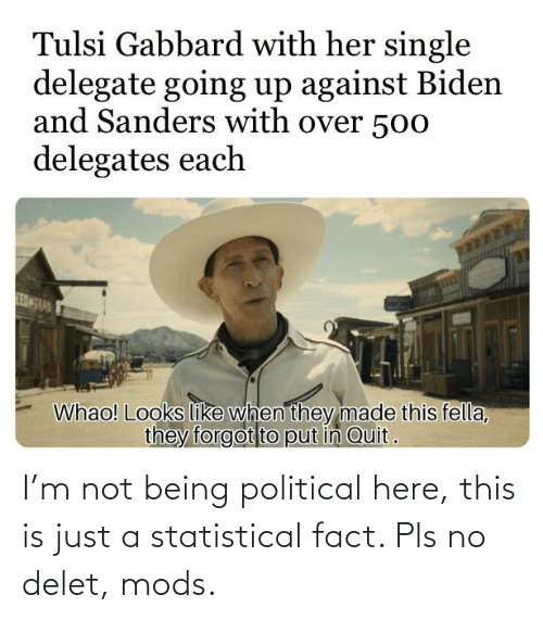 Delet: I'm not being political here, this is just a statistical fact. Pls no delet, mods.