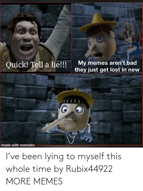 myself: I've been lying to myself this whole time by Rubix44922 MORE MEMES
