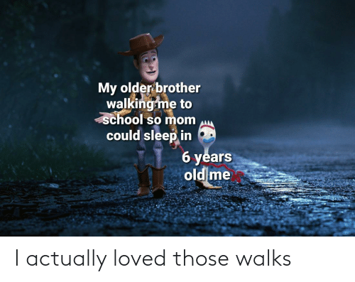 Walks: I actually loved those walks