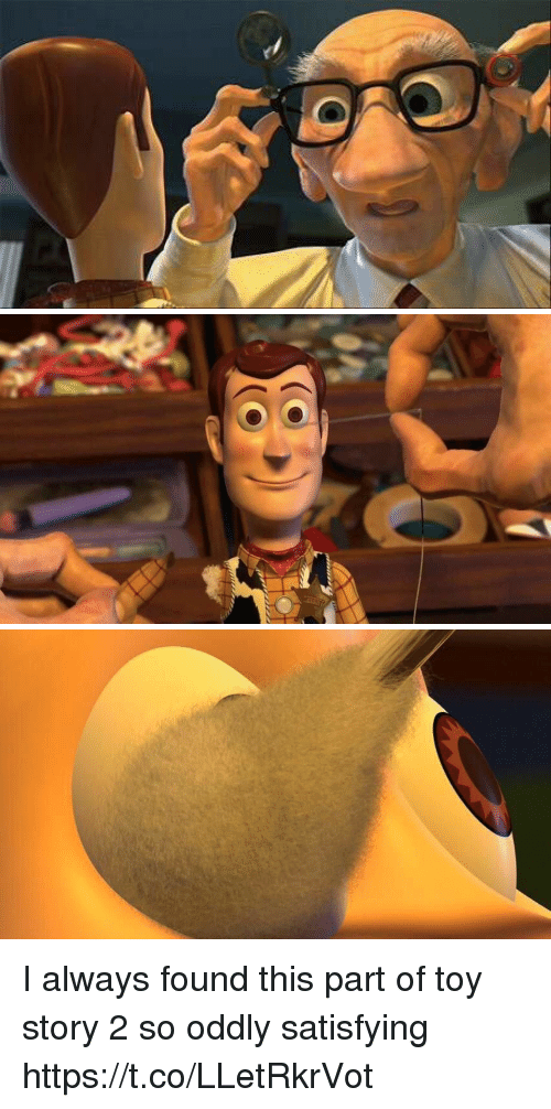 Oddly Satisfying: I always found this part of toy story 2 so oddly satisfying https://t.co/LLetRkrVot