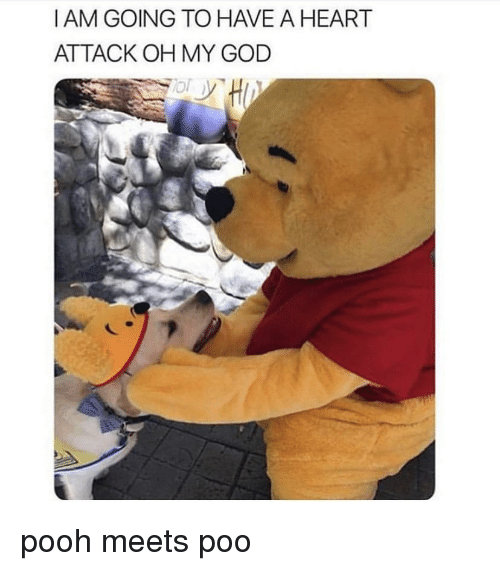 God, Oh My God, and Heart: I AM GOING TO HAVE A HEART  ATTACK OH MY GOD pooh meets poo