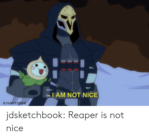 Tumblr, Blog, and Nice: I AM NOT NICE  @JDAVIDSEN jdsketchbook:  Reaper is not nice