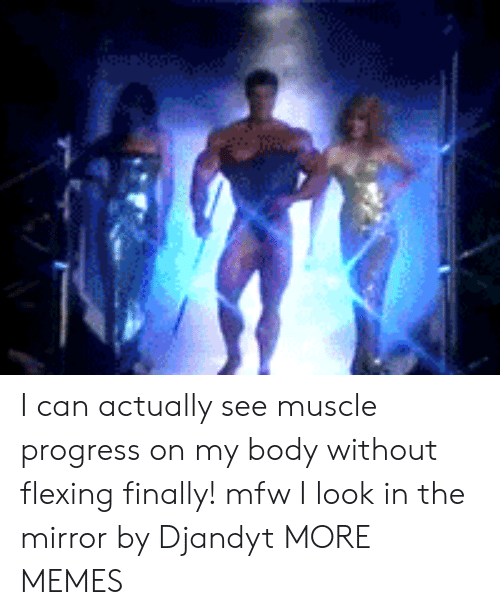 Looking In: I can actually see muscle progress on my body without flexing finally! mfw I look in the mirror by Djandyt MORE MEMES