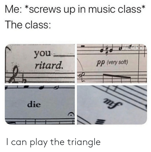 play: I can play the triangle
