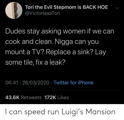 Mansion: I can speed run Luigi's Mansion