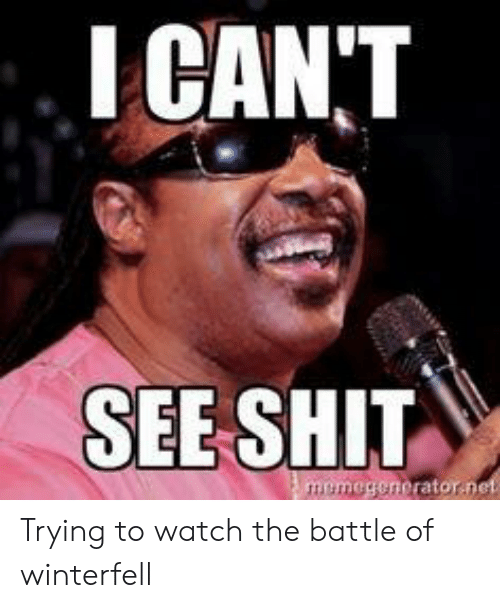 Shit, Watch, and Battle: I CANT  SEE SHIT Trying to watch the battle of winterfell