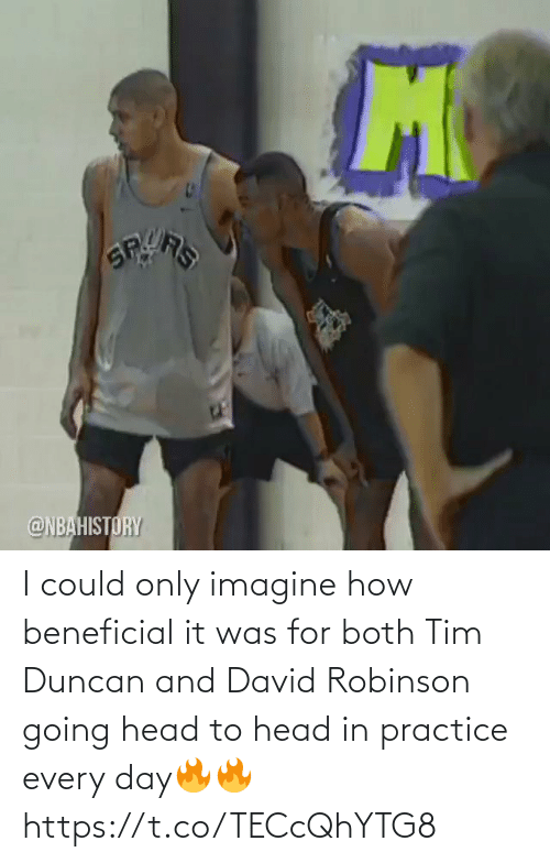 tim: I could only imagine how beneficial it was for both Tim Duncan and David Robinson going head to head in practice every day🔥🔥 https://t.co/TECcQhYTG8
