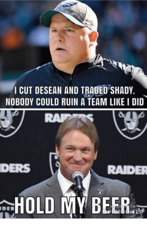 Nfl, A Team, and Team: I CUT DESEAN AND TRADED'SHADY.  NOBODY COULD RUIN A TEAM LIKE I DID  DERS  RADE  DER